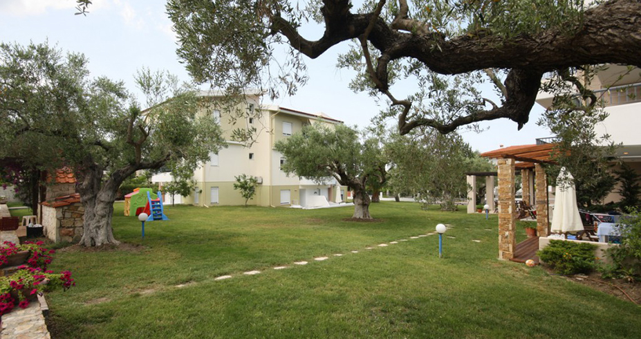 Vila Dionisos Resort Pefkohori dvoriste